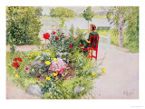 Summer in Sundborn, 1913, from a Commercially Printed Portfolio, Published in 1939 Giclée-tryk af Carl Larsson