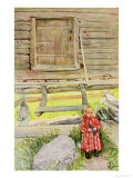 The Old Lodge, from a Commercially Printed Portfolio, Published in 1939 Giclée-tryk af Carl Larsson