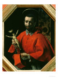 St. Charles Borromeo, Archbishop of Milan Giclée-tryk af Carlo Dolci