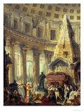 Alexander the Great Visiting the Tomb of Achilles, 1755-60 Reproduction procédé giclée par Hubert Robert