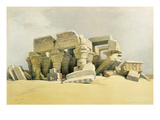 """Ruins of the Temple of Kom Ombo, from """"Egypt and Nubia"""", Vol.1 (Litho) (See also 84718) Giclee Print by David Roberts"""