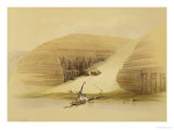 """Excavated Temple of Abu Simbel, from """"Egypt and Nubia,"""" Vol.1 Giclee Print by David Roberts"""