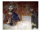 Deesis Christ with St. John the Baptist, Detail Giclée-tryk