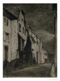 Street in Saverne, 1858 Gicléedruk van James Abbott McNeill Whistler