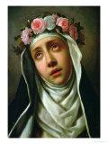 St. Rose of Lima Giclée-tryk af Carlo Dolci