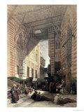 "Bazaar of the Silk Merchants, Cairo, from ""Egypt and Nubia,"" Vol.3 Giclée-Druck von David Roberts"