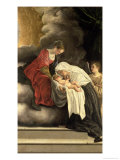 Madonna and Child with St. Frances of Rome Giclée-tryk af Orazio Gentileschi