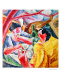 Under the Pergola at Naples, 1914 Reproduction procédé giclée par Umberto Boccioni