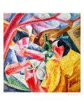 Under the Pergola at Naples, 1914 Giclee-trykk av Umberto Boccioni