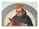 St. Thomas Aquinas Reading, circa 1510-11 Giclée-tryk af Fra Bartolommeo