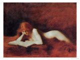 The Reader Giclee-trykk av Jean-Jacques Henner
