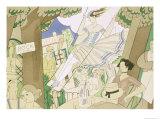 The Swing, circa 1920 Giclee-trykk av Charles Martin