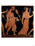 Dionysiac Procession, Detail of an Attic Red-Figure Bell-Krater, 5th Century BC Stampa giclée