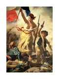Liberty Leading the People, 28 July 1830 (Detail) Giclee-trykk av Eugene Delacroix