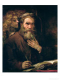 St. Matthew and the Angel, 1655-60 Giclée-tryk af  Rembrandt van Rijn