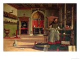 Vision of St. Augustine, 1502-08 Giclée-tryk af Vittore Carpaccio