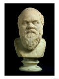 Portrait Bust of Socrates, Copy of Greek Early 4th Century BC Original Giclée-tryk