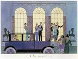 Au Revoir, gravure par Henri Reidel, 1920 (lithographie) Reproduction procédé giclée par Georges Barbier