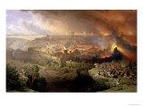 The Destruction of Jerusalem in 70 AD Giclée-tryk af David Roberts