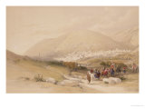 "Nablous, Ancient Shechem, April 17th 1839, Plate 42 from Volume I of ""The Holy Land"" Giclee Print by David Roberts"
