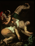 The Crucifixion of St. Peter, 1600-01 Giclée-tryk af  Caravaggio