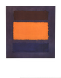 Untitled, Brown and Orange on Maroon Stampe di Mark Rothko