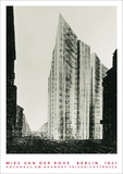 Hochhaus am Bahnhof, Berlin Kunstdruck von Mies Van Der Rohe