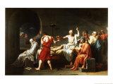 La Mort de Socrate, vers 1787 Affiches par Jacques-Louis David