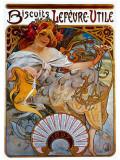 Lefevre Utile Lámina giclée por Alphonse Mucha