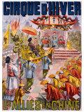 Les Allies en Chine Lámina giclée por Louis Galice