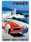 Le Grand Defi Monaco, 18 Mars, 1990 Impressão giclée por Pierre Fix-Masseau
