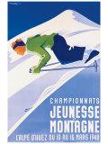 Championnats Jeunesse et Montagne Reproduction procédé giclée par Gaston Gorde