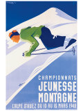 Championnats Jeunesse et Montagne ジクレープリント : ガストン・ゴルド