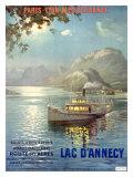 PLM Railroad, Lake d'Annecy Reproduction procédé giclée