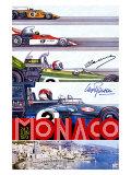 Corsa del Gran Premio di Montecarlo, circa 1973 Stampa giclée