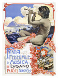 Lugano Music Festival Giclée-tryk