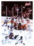 U.S. Champion Hockey Team, c.1980 Giclée-tryk