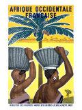 French Occidental Africa Colonies Reproduction procédé giclée par Michel Bouchaud