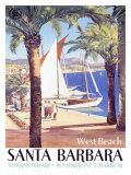 West Beach, Santa Barbara Giclee-trykk