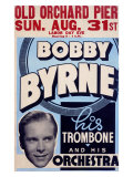 Bobby Byrne Trombone Orchestra Giclee Print