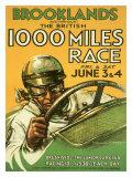 British 1000 Grand Prix Racing Impressão giclée