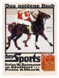 Golden Book of Sports, Horse Polo Gicléetryck av Ludwig Hohlwein