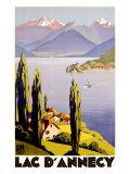 Rhone, Alpit, Annecyjärvi Giclée-vedos