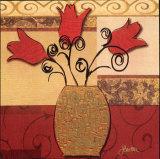 Tulip Trio Láminas por Jill Barton