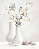 Weidenzweige mit blauen Blumen Poster von Karin Valk