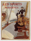 Les Sports Modernes,Yachting Posters af Albert Lynch