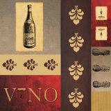 Vino in Red II Poster von William Verner