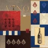 Vino in Blue II Poster von William Verner