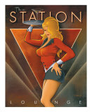 The Station Lounge Poster van Michael L. Kungl
