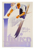 Winter Sports in Italien Art by Franz Lenhart